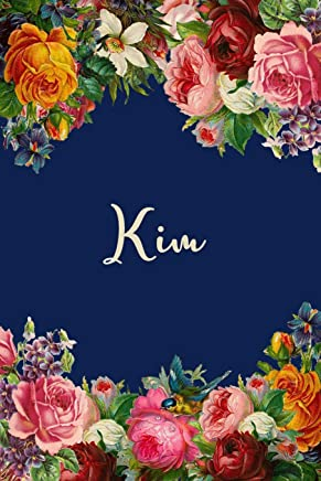 Kim: Personalized Name Floral Design Matte Soft Cover Notebook Journal to Write In.  120 Blank Lined Pages