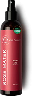 Eve Hansen Organic Rose Water Spray for Face | Huge 8 oz Moroccan Rosewater Face Toner and Makeup Setting S...