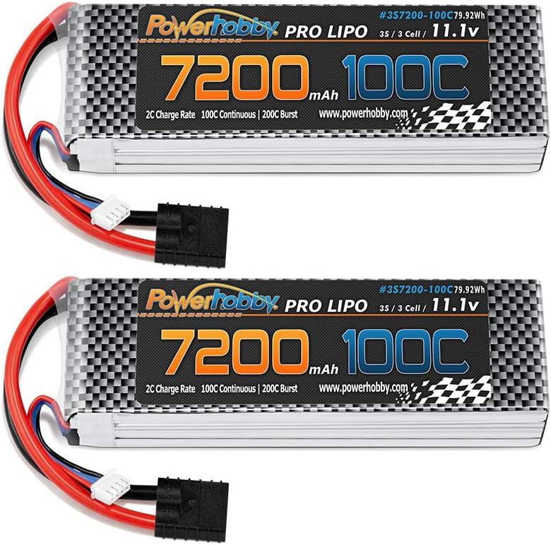 Powerhobby 3S Large discharge Super sale period limited sale 11.1V 7200MAH 100C lipo w Battery 2 Genuine Plug