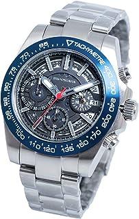 [ブルッキアーナ] ba2607 メンズ 腕時計 スケルトン クォーツ 防水 ディープブルー