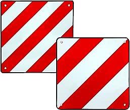 Warntafel Überbreite links /& rechtsweisend starr 423 x 423 mm weiß-rot LKW