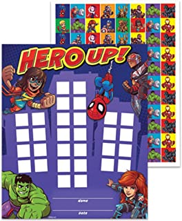 Eureka Back to School Marvel Avengers ''Hero Up'' Mini Reward Charts for Kids with Stickers, 736pc, 5'' W x 6'' H