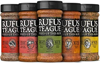 Rufus Teague: Dry Rub - 6.2oz Shaker - Award Winning Premium Rubs for Meats & Veggies - Masterful Blends of Herbs and Spices - Elevates Your Meals - Natural Ingredients - Gluten-Free & Kosher