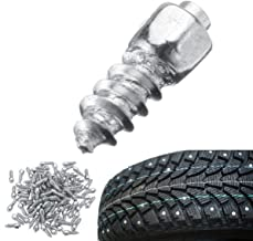 Hitommy 100PCS Universal Car Tire Stud Screw Non-Slip Metal Snow Ice Spikes Racing Track