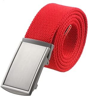 red canvas belt