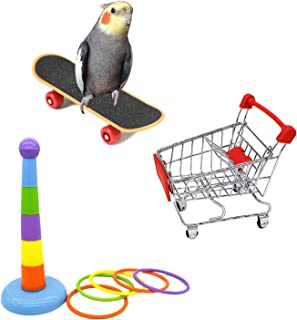 Hypeety Bird Intellective Toys Screw Training Toy for Parrot Parakeet Macaw African Greys Budgies Cage Toy (B)