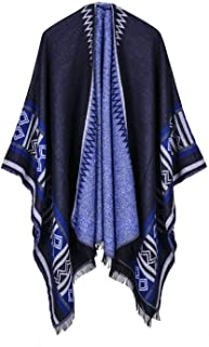 2018 new women winter scarf Pentagram flag scarf fashion show model poncho womens pashmina cape