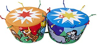 Melissa & Doug K's Kids Bongo Drums Soft Musical Instrument