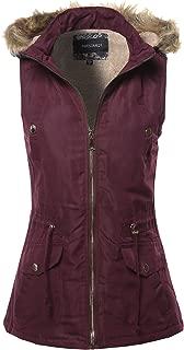 Awesome21 Women's Solid Vest Drawstring Waist Sleeveless Jacket