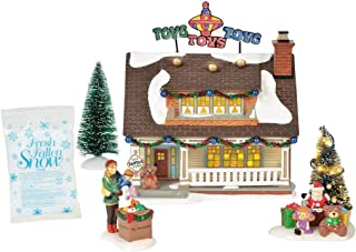 Department56 Original Snow Village The Toy House Lit Building and Accessories, 7.09