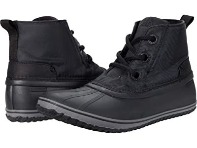 Sperry Schooner 3-Eye Twill Nylon (Black/Black) Women