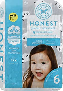 The Honest Company - Eco-Friendly and Premium Disposable Diapers - Pandas, Size 6 (35+ lbs), 18 Count