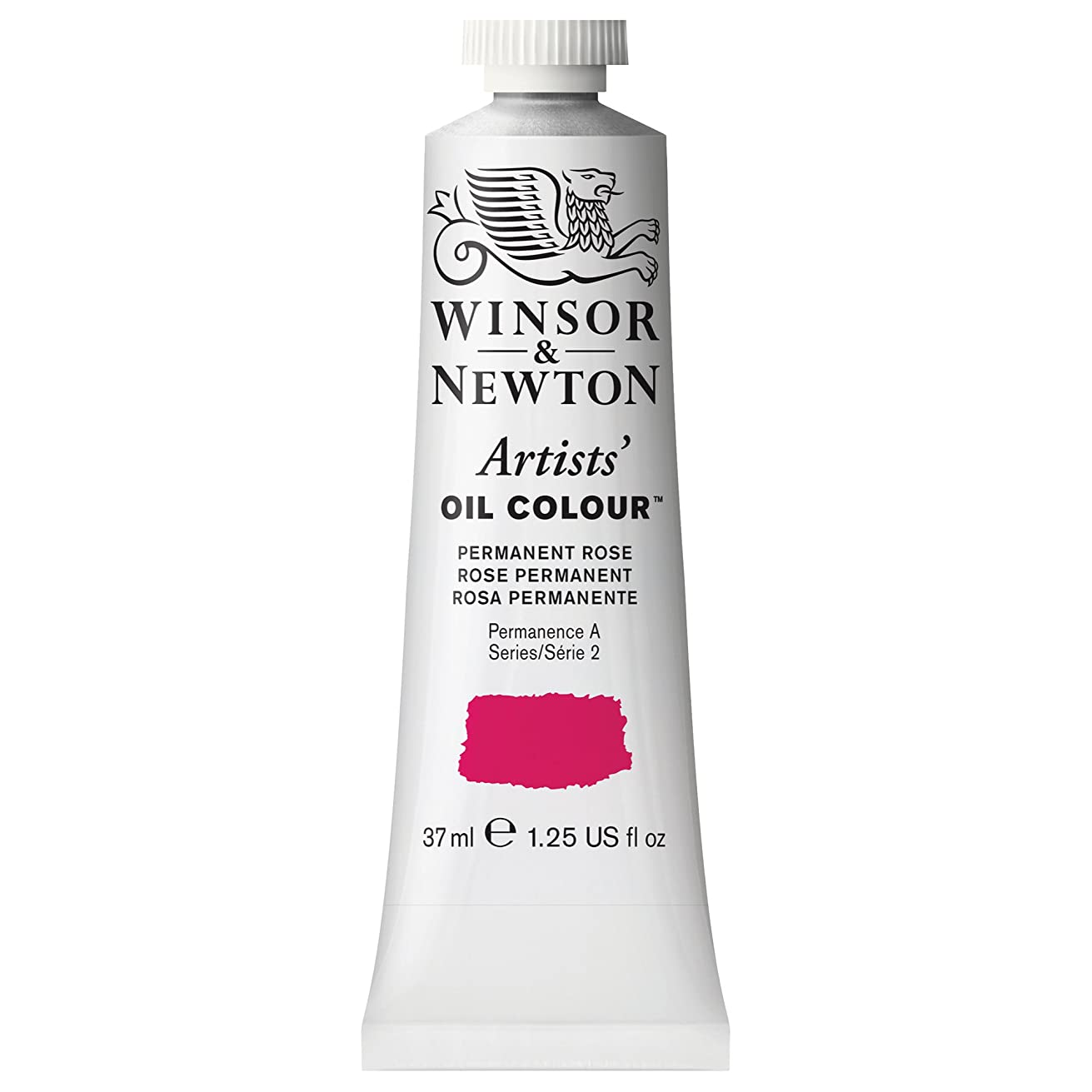Winsor & Newton Artists' Oil Colour Paint, 37ml Tube, Permanent Rose