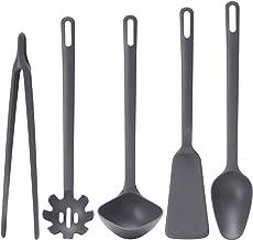 طقم أدوات المطبخ فولنداد الكامل المكون من 5 قطع من ايكيا، بلون رمادي