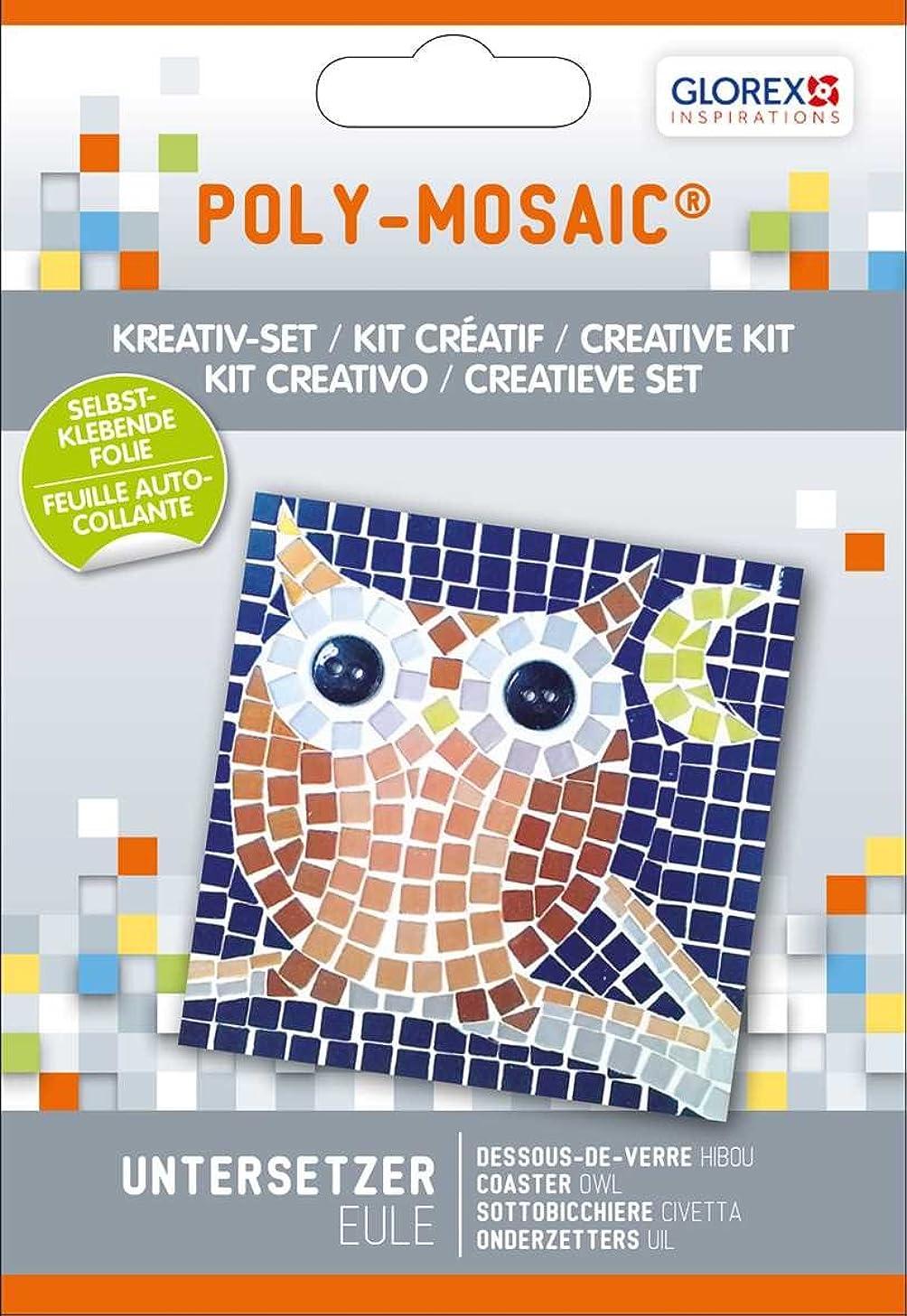 Glorex Poly Owl Mosaic Creative Set Plastic Multi Colour 17?x 11.6?x 1.5?cm