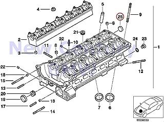 BMW Genuine Cylinder Head Cover Lid 22.0MM 840Ci 840i 740i 740iL 525i 530i 540i 318i 318is 318ti 320i 323i 325i 325is 328i M3 M3 3.2 740i 740iL 740iLP 525i 528i 530i 540i 540iP M5 320i 323Ci 323i 325C