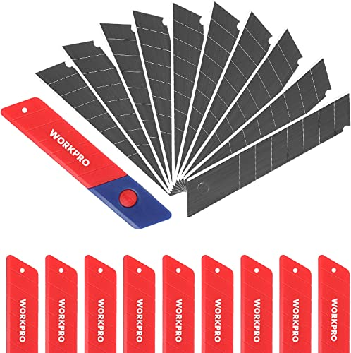 high quality WORKPRO 18mm Snap-off Blades 100-Pack, SK5 Steel high quality Replacement Blade Fits lowest all 18mm Utility Knife & Box Cutter sale