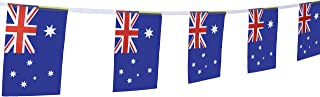 TSMD 100 Feet Australia Australian Flag 76Pcs Indoor/Outdoor National Country Flags,Party Decorations for Olympics,World Cup,Bar,Sports Event,International Festival(8.2