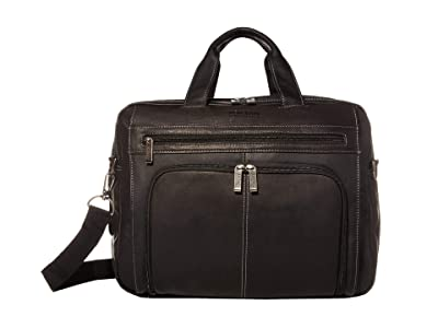 Kenneth Cole Reaction Out of the Bag 5 to 6 1/2 Double Gusset Expandable Top Zip Portfolio Computer Case (Black) Computer Bags