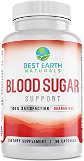 Blood Sugar Support Supplement Natural Formula Supports Blood Sugar Levels Within The Normal Range 60 Count