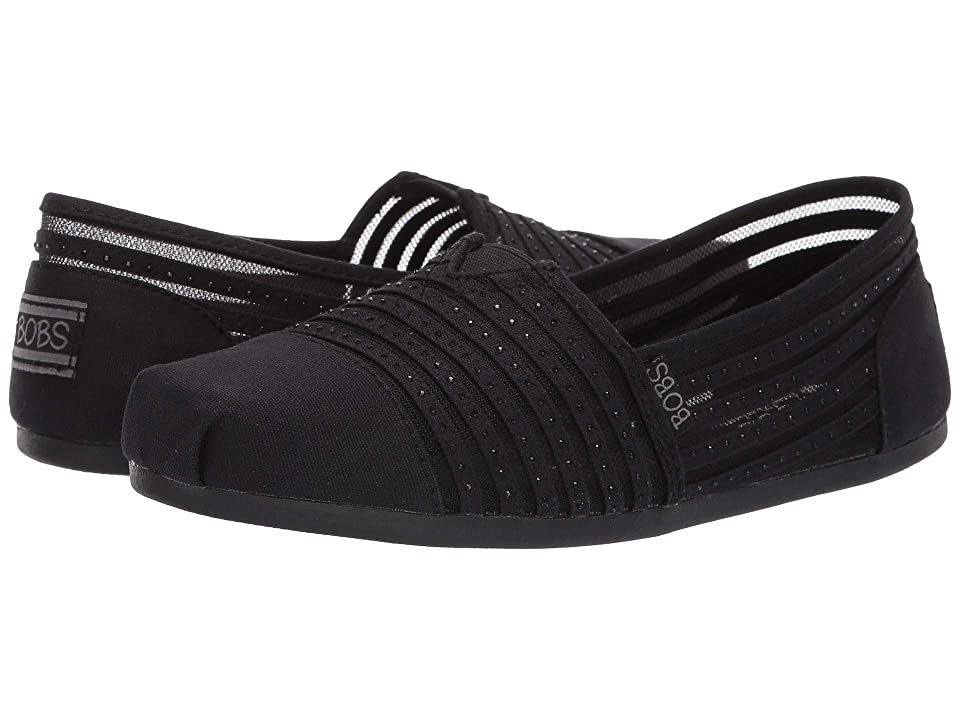 BOBS from SKECHERS Bobs Plush Glow Squad (Black/Black) Women