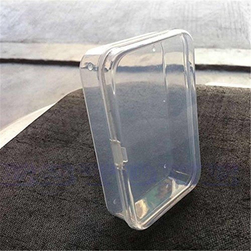 Caja de almacenamiento pequeña de plástico transparente con tapa ...