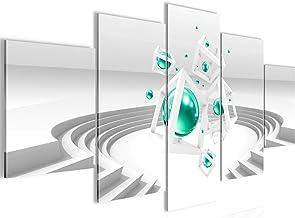 tafeldecoratie 3D muur - 200 x 100 cm canvas kamer appartement met uitzicht - klaar te hangen - 010951