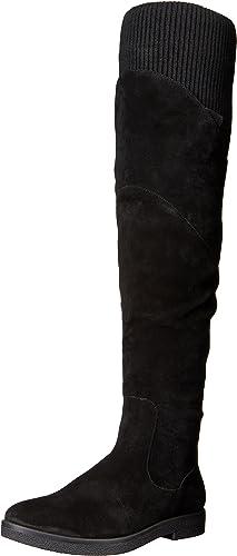 Nine West Wohommes Alaine Suede Over-The-Knee démarrage, noir, 6 6 M US  beaucoup de surprises