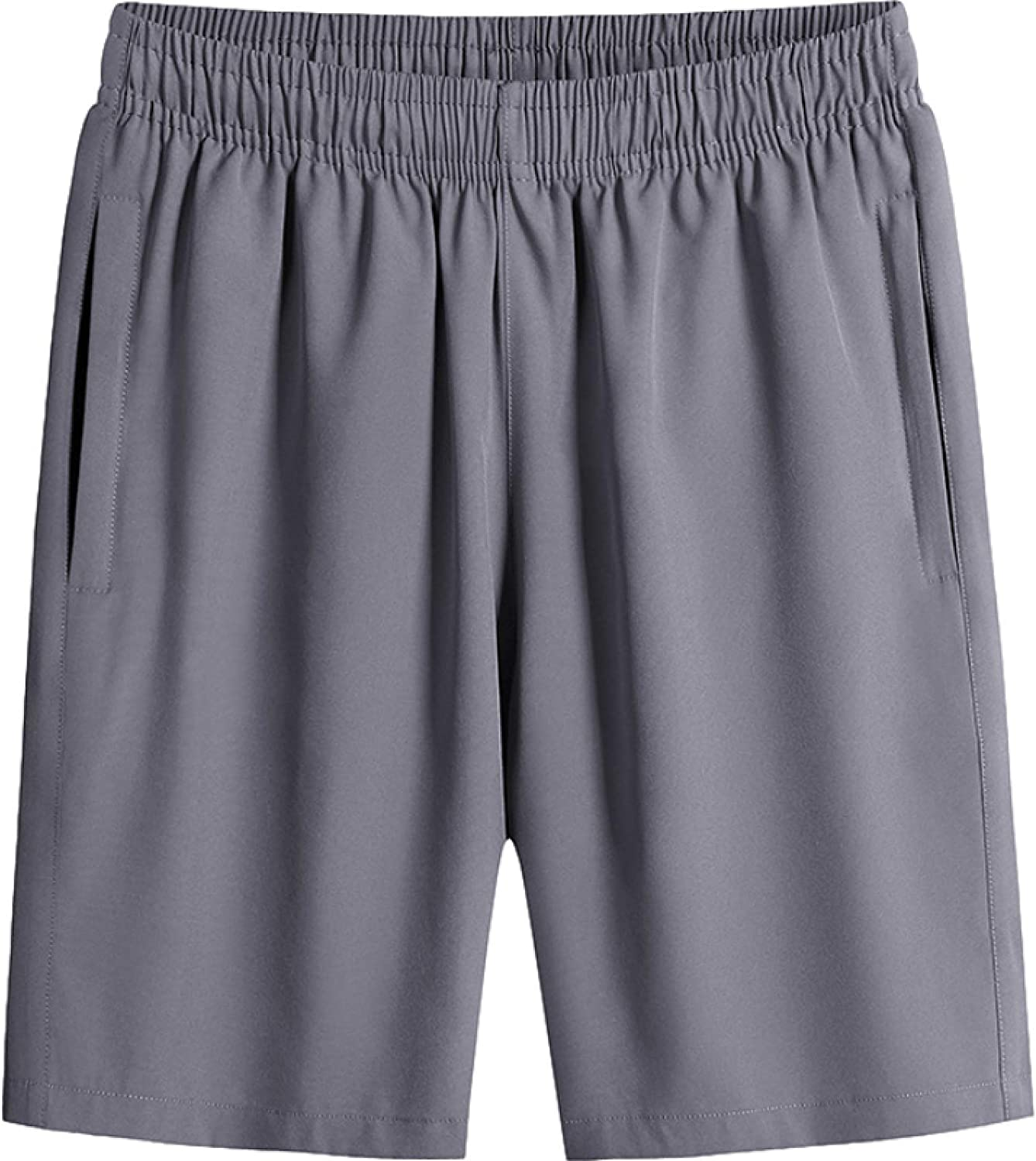 Segindy Men's Quick Dry Shorts Summer Fashion Solid Color Large