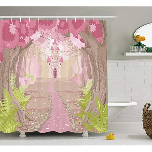 Ambesonne Teen Girls Decor Collection Path To The Fairy Tale Princess Castle In Fantasy Forest