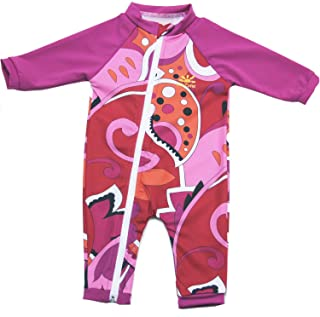 Nozone Full Zip Sun Protective Baby Swimsuit UPF 50+ in Your Choice of Colors