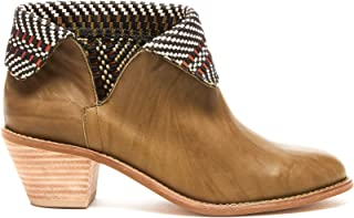 KELSI DAGGER Brooklyn Kayak Genuine Leather and Faux Shearling or Blanket Cuff Bootie