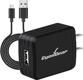 10 Watt Wall AC Charger with Data Cable Black Compatible for LG G Stylo/Stylo 2/ Stylo 3/K30/K20 V/K20 Plus/Aristo/Aristo 2, Samsung Galaxy S7/J7/J3/J1/Note5, Motorola Moto E4/E4 Plus/E5/G6 Play