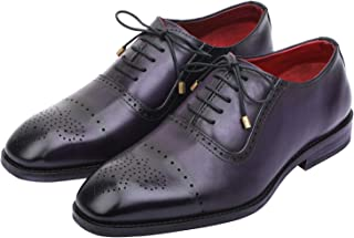 840b6d6e2bf6 Lethato Wingtip Brogue Oxford Handcrafted Men s Genuine Leather Lace up Dress  Shoes
