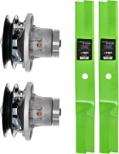 8TEN Spindle Low-Lift Blade Kit for John Deere 38 Inch Deck 110 111 112L 116 130 160 GT242 LX 172 173 176 178 AM108925