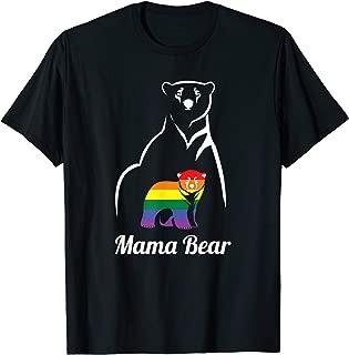 LGBT Mama Bear T-Shirt Gay Pride Equal Rights Rainbow Gift