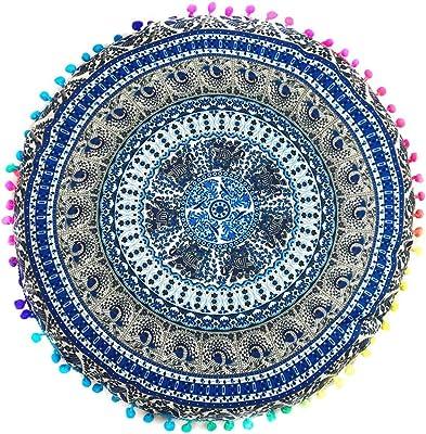 Amazon.com: Shiraleah basant Ronda Almohada, Azul: Home ...