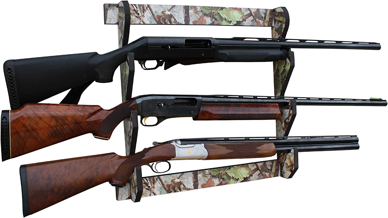 Rush Creek Creations Indoor 3 Wall Display Shotgun 新品 送料無料 Rifle Storage 注目ブランド