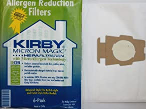Best Kirby 6 Cloth Sentria Hepa Micron Magic Ultimate G 1 Free Belt Vacuum Bags, White Review