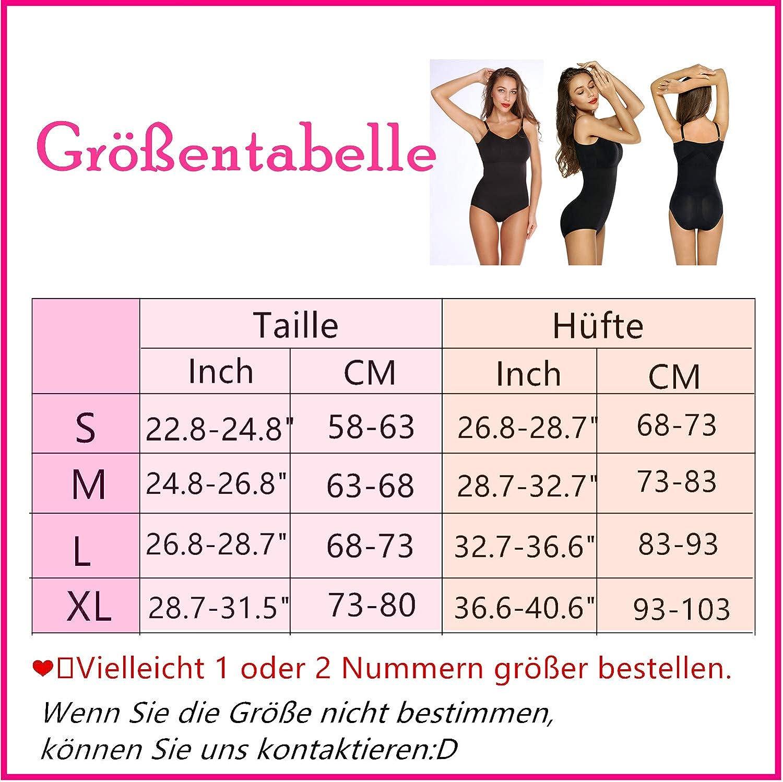 SHAPERIN Womens Shapewear Bodysuit Tummy Control Smooth Body Underwear Push up Shaping Bodysuit with Adjustable Shoulder Strap