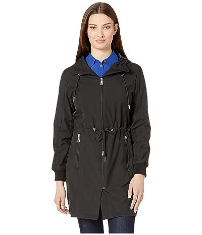 Calvin Klein Fashion Anorak Raincoat (Black) Women