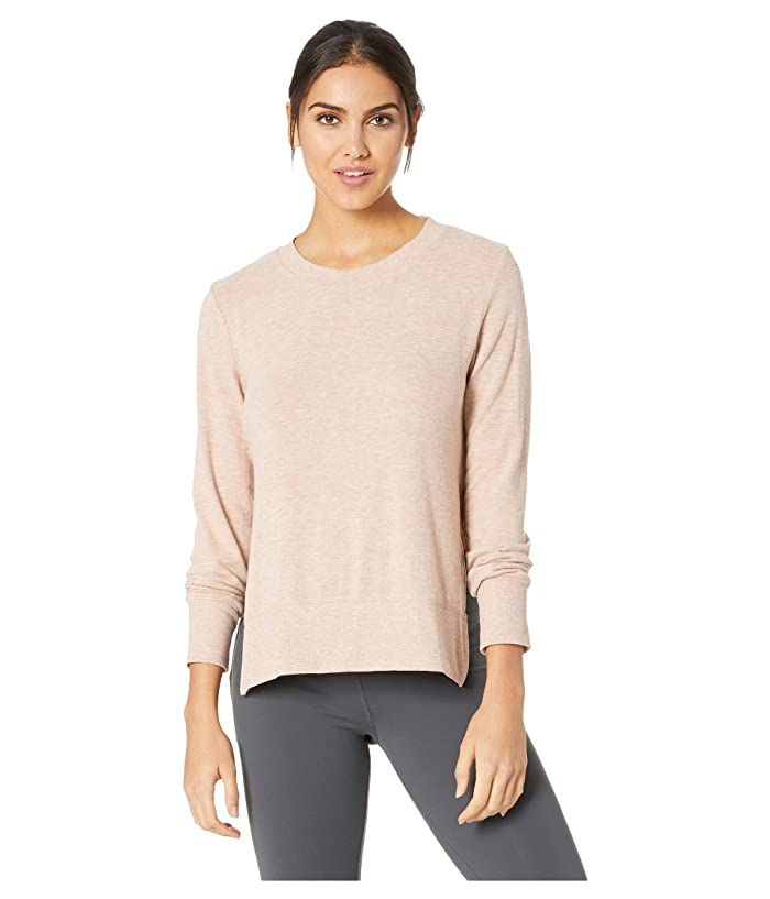 ALO Glimpse Long Sleeve Top (Nectar Heather) Women