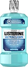 Listerine Ultraclean Oral Care Antiseptic Mouthwash with Everfresh Technology to Help Fight Bad Breath, Gingivitis, Plaque and Tartar, Arctic Mint, 1.5 l