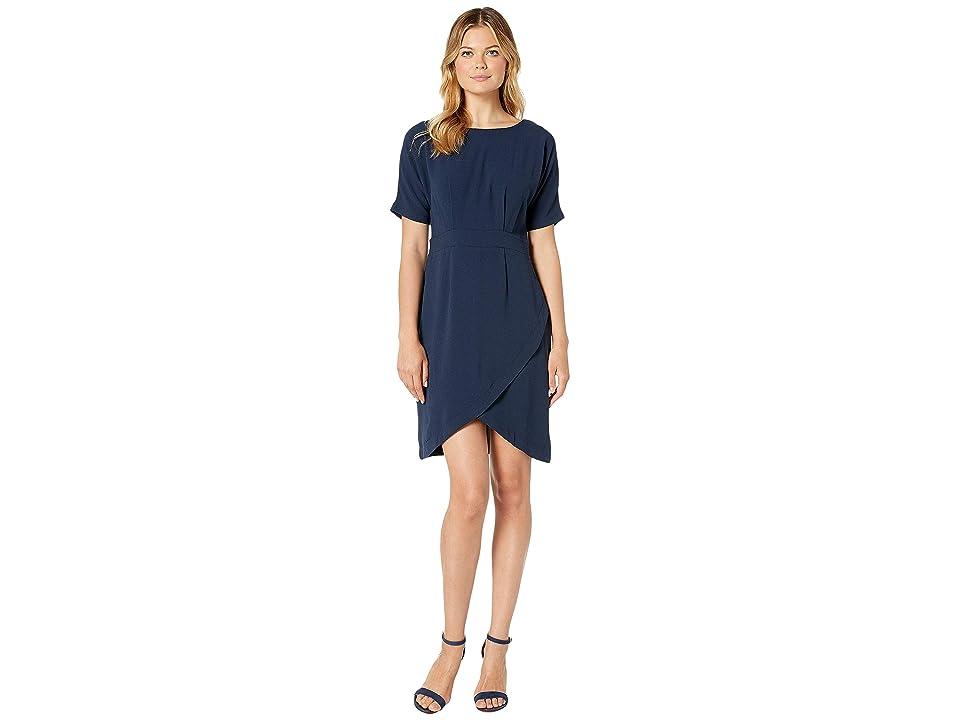 Bobeau Dolman Sleeve Wrap Dress (Navy) Women