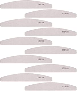 Nail Files and Buffer, Professional Manicure Tools Kit 100 100 Grit Double Sided Washable 10 Nail File Set