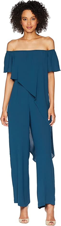 Off the Shoulder Draped Jumpsuit