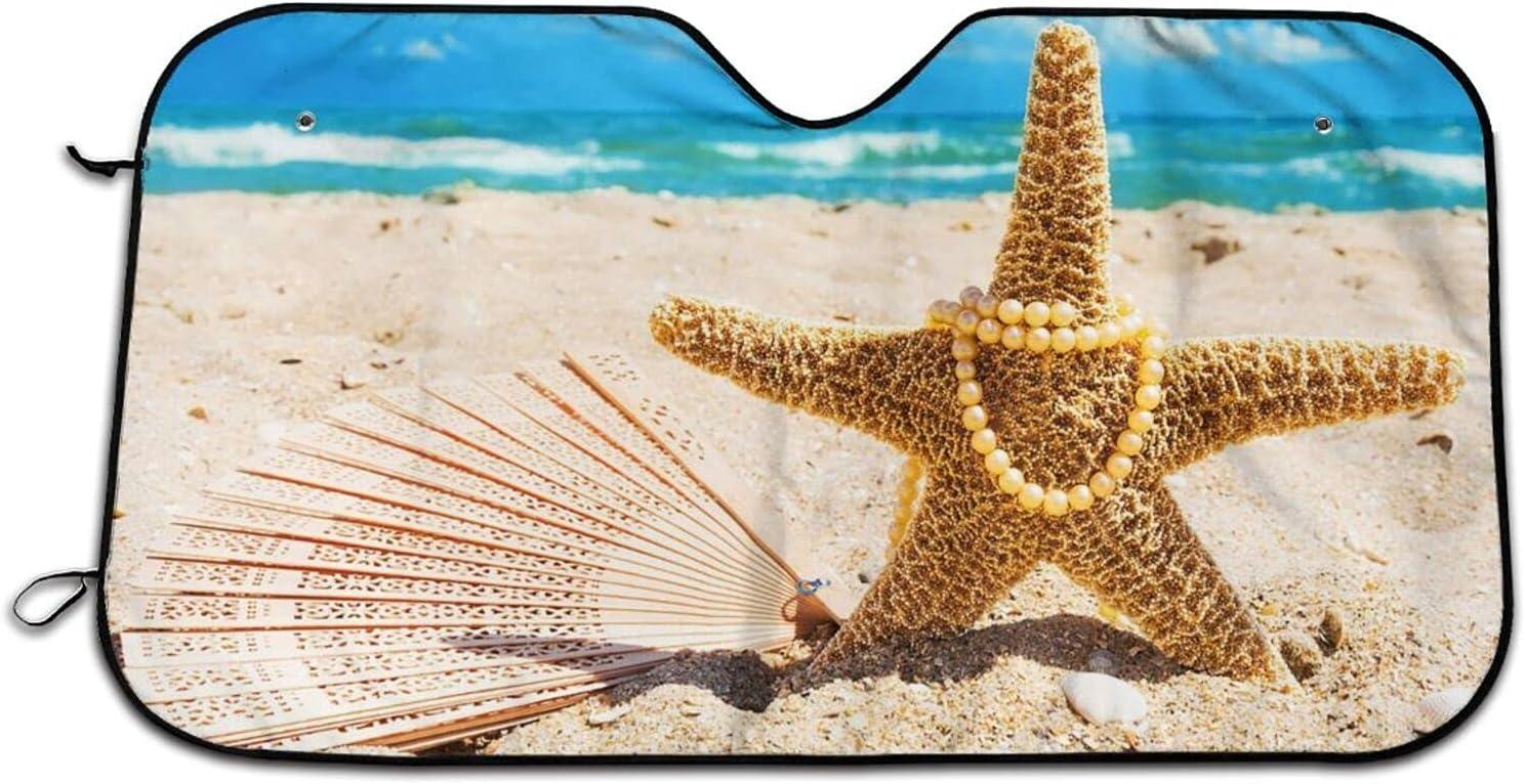 Limited price sale Max 55% OFF Beach and Starfish Car Windshield Blocks Uv Shade Curtains Sun