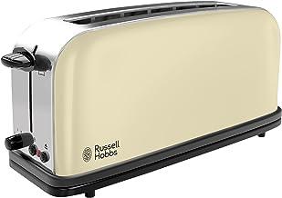 Russell Hobbs Toaster Grille-Pain, Fente Large Spécial Baguette, 6 Niveaux de Brunissage, Décongèle, Réchauffe - Crème 213...
