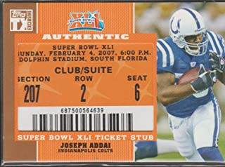 Super Bowl XLI 2007 Indianapolis Colts vs Chicago Bears - Replica Game Ticket with Rigid Holder