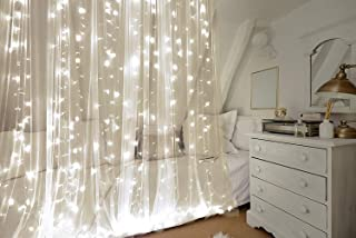 ProductWorks Indoor/Outdoor Curtain Cool White Micro Bulb Translucent 300 Count String Lights for Windows, Walls, Weddings, Parties, and Special Events, 9.8' x 10'